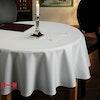 Runde Vollzwirn-Tischdecke SORRENTO weiß