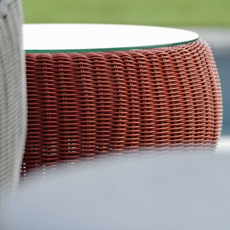 ANNY Beistelltisch/Hocker mit Glasplatte und Sitzkissen (Stern Möbel)