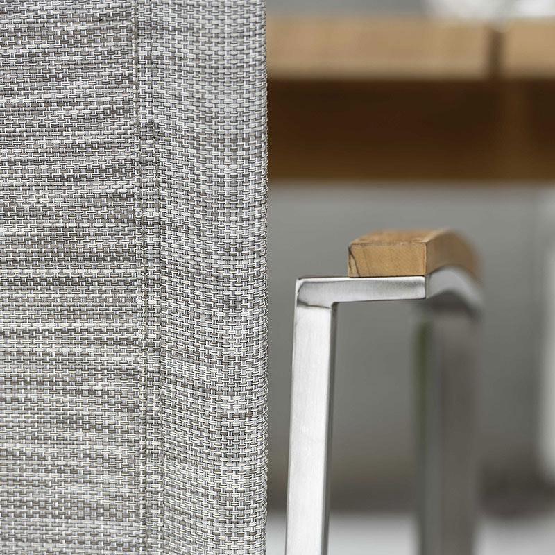 NEW TOP Stapelsessel Edelstahl mit Textilene (Stern Möbel)