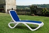 Sonnenliege OMEGA stapelbar weiß-blau