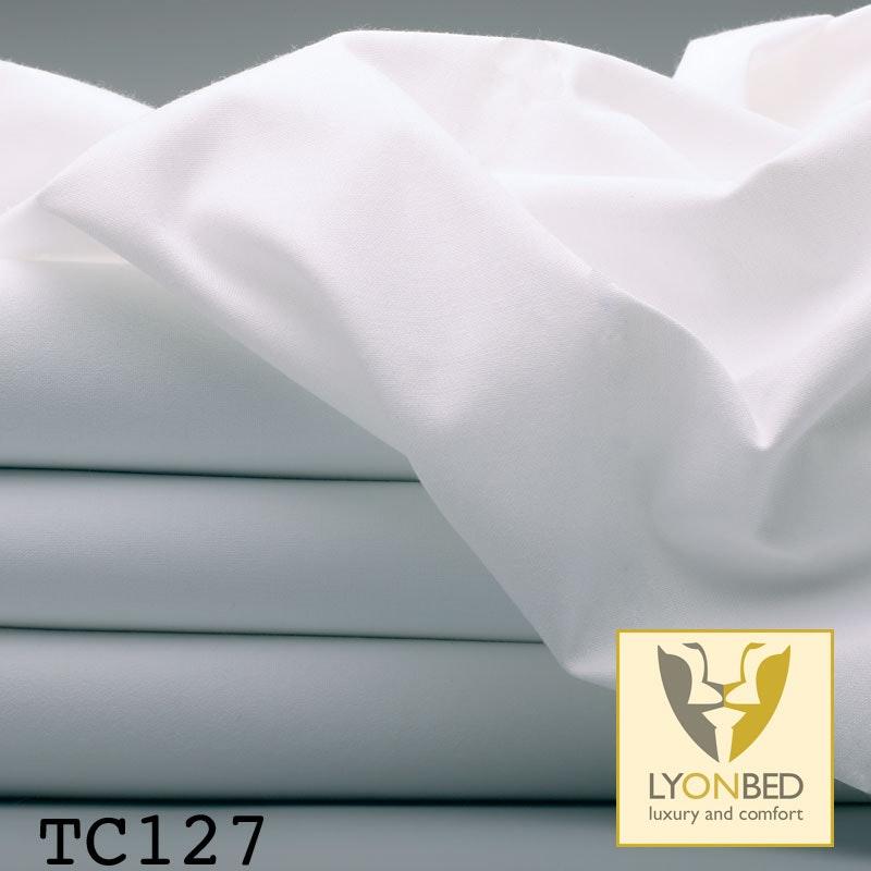 TC127 Hotel-Feinbettlaken aus Mischgewebe weiß