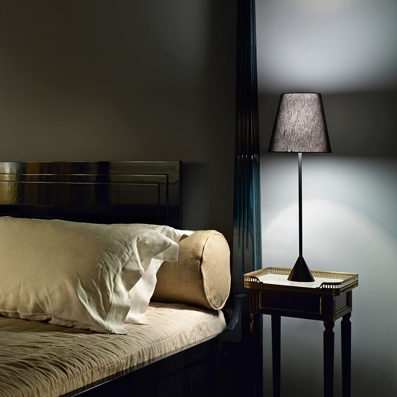 Nachttischlampe LYNDA (mit Fuß, frei stehend)