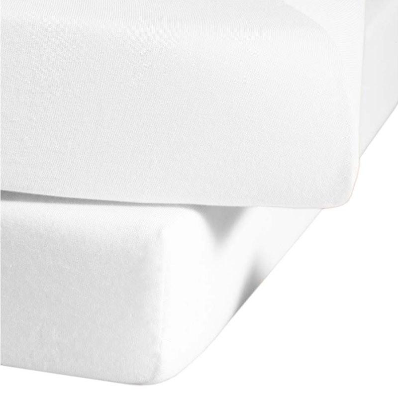 Spannbettlaken BARCELONA Jersey Mischgewebe mit Gummizug 165g/qm weiß