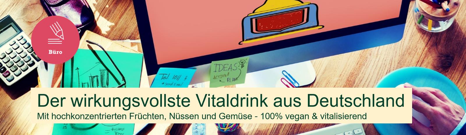 substanz natural vitalizer - vitaldrink früchte nüsse gemüse