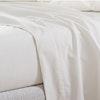 Perkal Leicht-Bettwäsche uni glatt, Garnitur in weiß