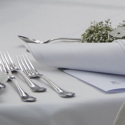 3,20 m Bankett Tischwäsche ohne Mittelnaht