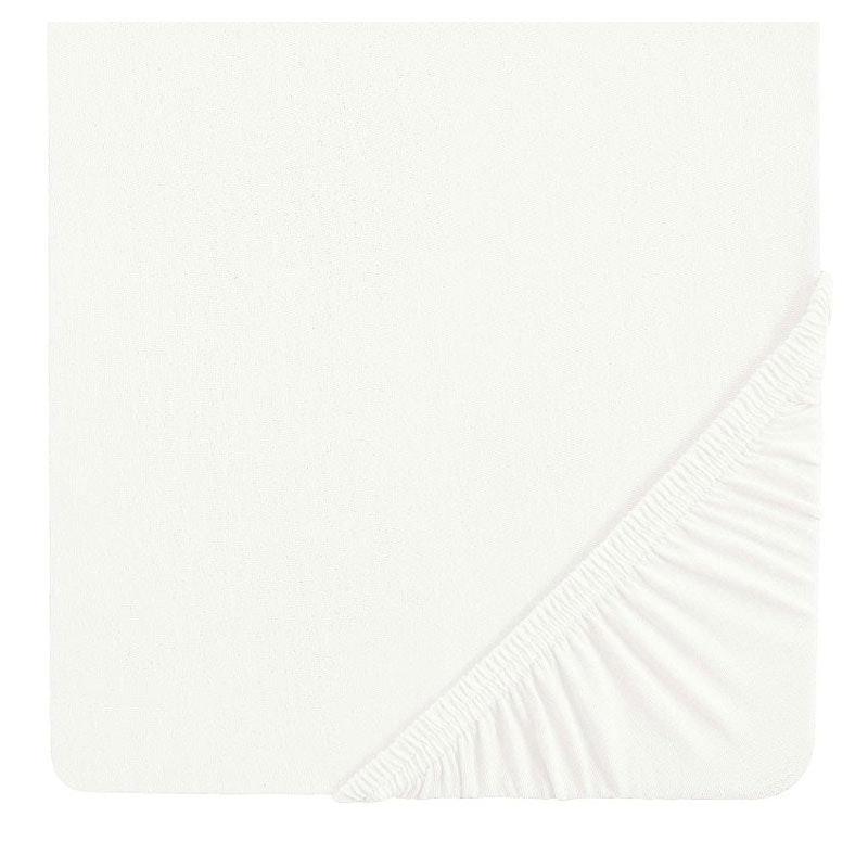VALENCIA Doppeljersey Spannbetttuch weiß