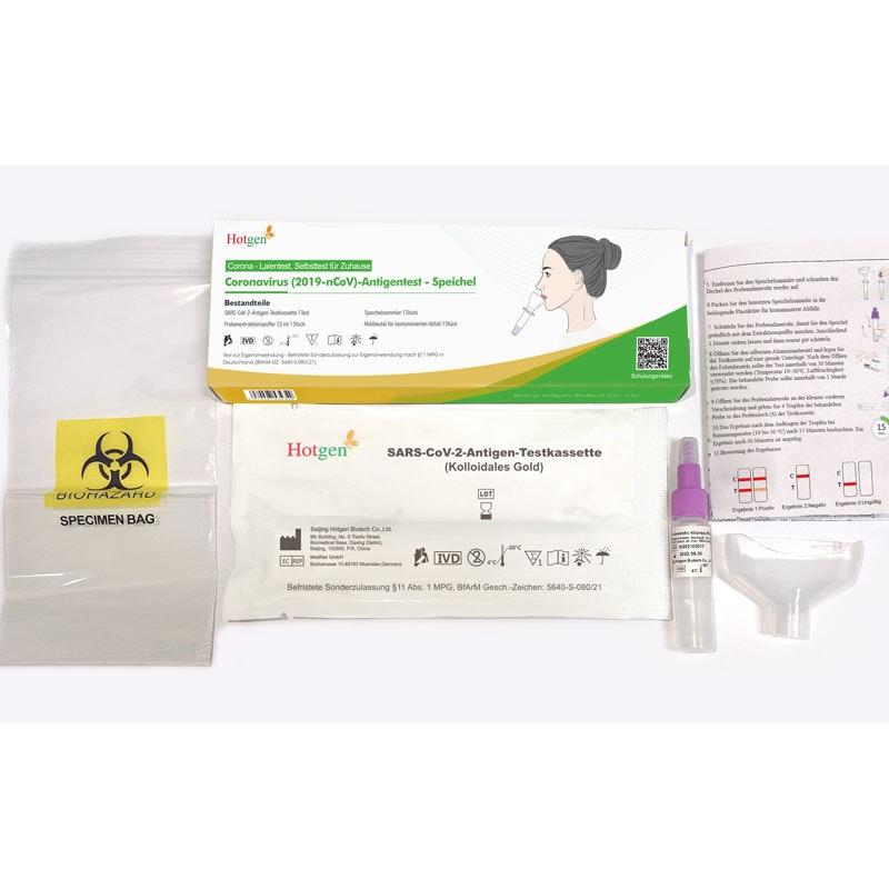 Hotgen Coronavirus 2019-nCoV Laientest / Selbsttest Speicheltest / Spucktest
