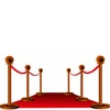 Schmutzfangmatte Sauberlaufteppich - rot -