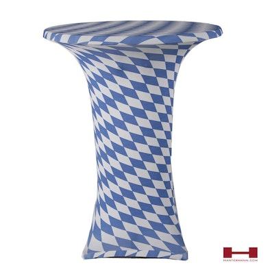 Oktoberfest Stretchhusse weiß-blau Partyhusse mit bayerischer Raute