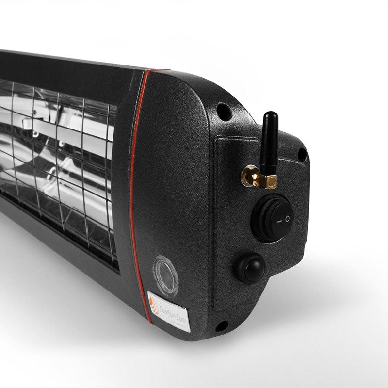 Terrassenheizstrahler mit Fernbedienung und App-Steuerung 1400 W low-glare