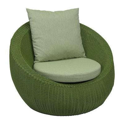 Loungesessel in grün, Anna by Stern