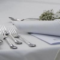 Runde Vollzwirn-Tischdecke weiß bis zu 3,20m ohne Mittelnaht