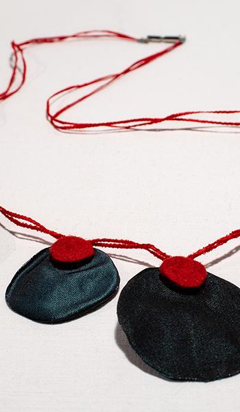 Filzkette Rot Schwarz