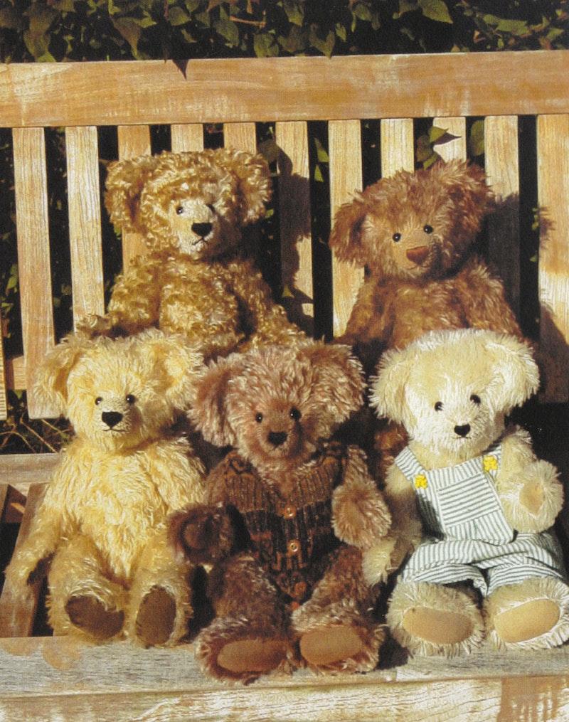 Bastelpackung Teddybär Jim, Komplettset inkl. Schnittmuster