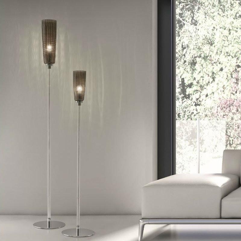 Stehlampe PERLE mundgeblasenes Muranoglas