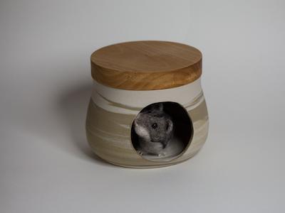 Hamsterversteck Natur Pur marmoriert