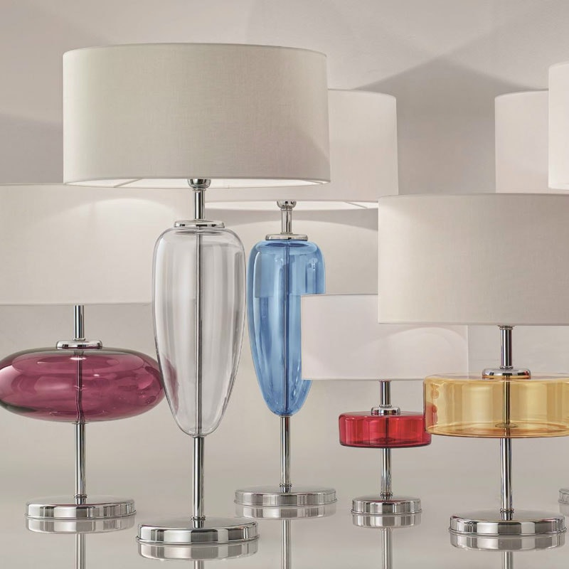 Tischlampe SHOW mundgeblasenes Muranoglas