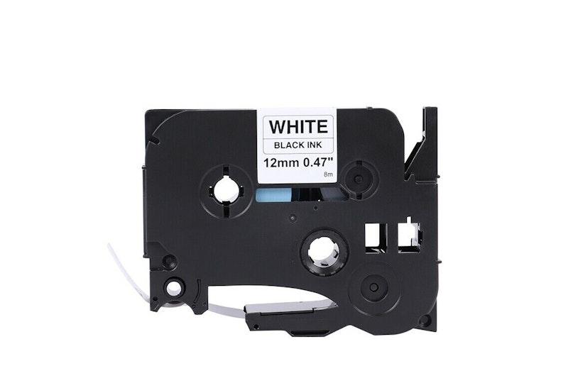 10x Schriftband-Kassette für Brother TZ-231 TZE-231 Schwarz auf Weiß 12mm 8m