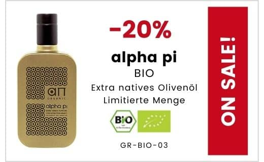 SALE - 20% Rabatt auf alpha pi BIO natives Olivenöl extra