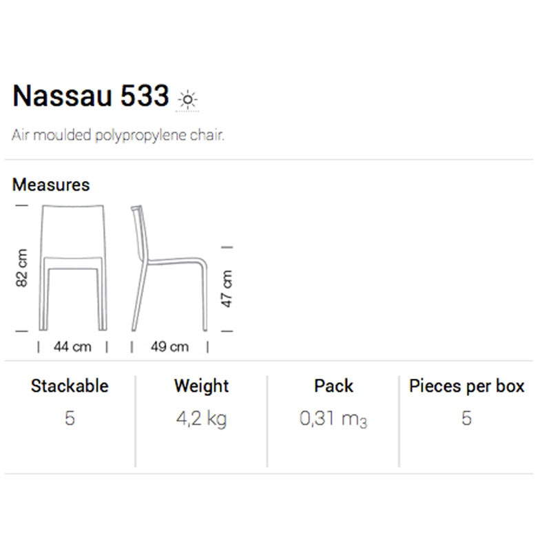Indoor- / Outdoorstuhl NASSAU 533 von SERENGETI  - schnell lieferbar -