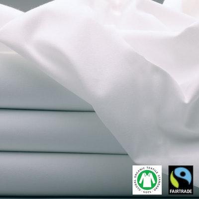 Preiswert Bettlaken 100% Bio-Baumwolle GOTS-zertifiziert, Fairtrade
