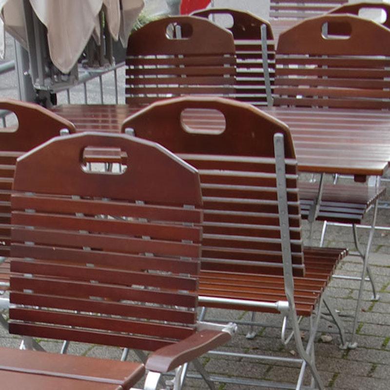 Biergartenstuhl BADEN-BADEN Robinienholz