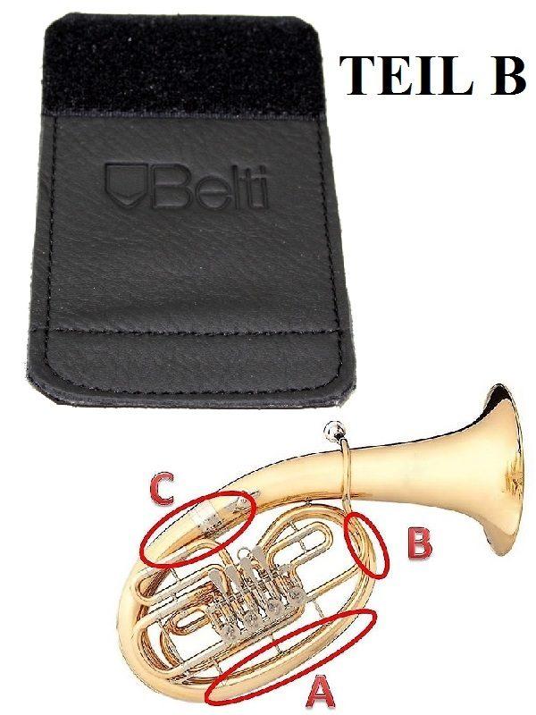 Schoner für Horn aus Echtleder Klettverschluss Hochwertiger Handschutz