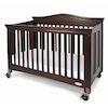 ROYALE™ Kinderbett / Kinder-Krippe / Klappbett antik Kirsche