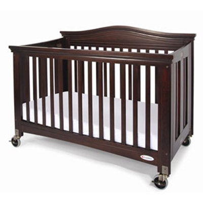 Kinderbett / Kinder-Krippe / Klappbett ROYALE™ antik Kirsche