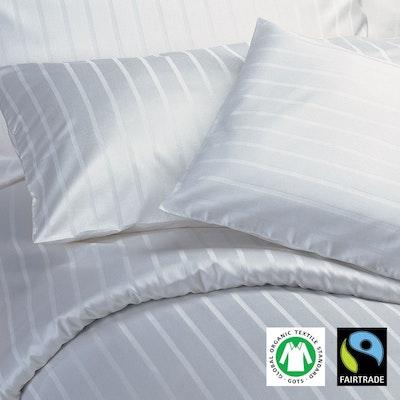 SAMOA 6/24mm Streifensatin Damast-Bettwäsche Bio-Baumwolle GOTS & Fairtrade