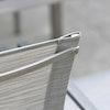 Stapelsessel in silbern, Evoee by Stern
