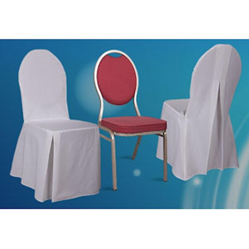 Stuhlhusse für Bankettstühle mit Schlitz im Rücken