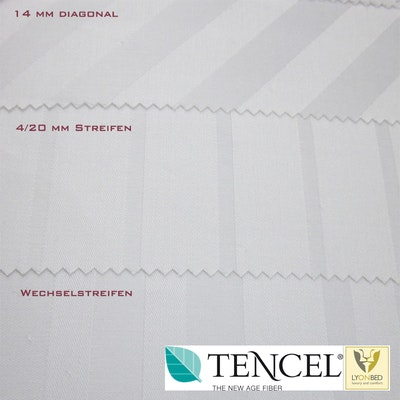 LyOnSilk© Hotelbettwäsche Tencel®/PES - Made in Germany