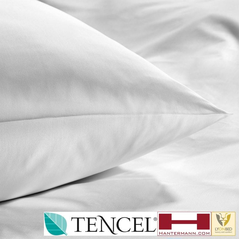 LYONSILK® Bio-Bettwäsche für Hotels - TENCEL/Baumwolle im 8 mm Streifensatin