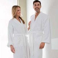 GENUA Bademantel 360g/qm Walkfrottier im Kimonostil weiß