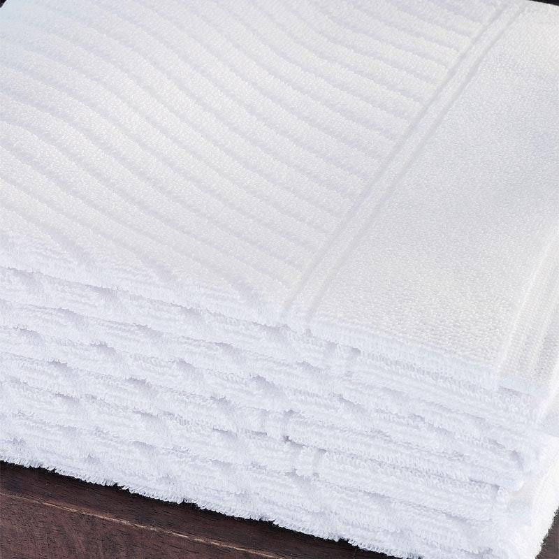 420g/qm Zwirnfrottier Diagonalstreifen schmal Handtücher & Duschtücher