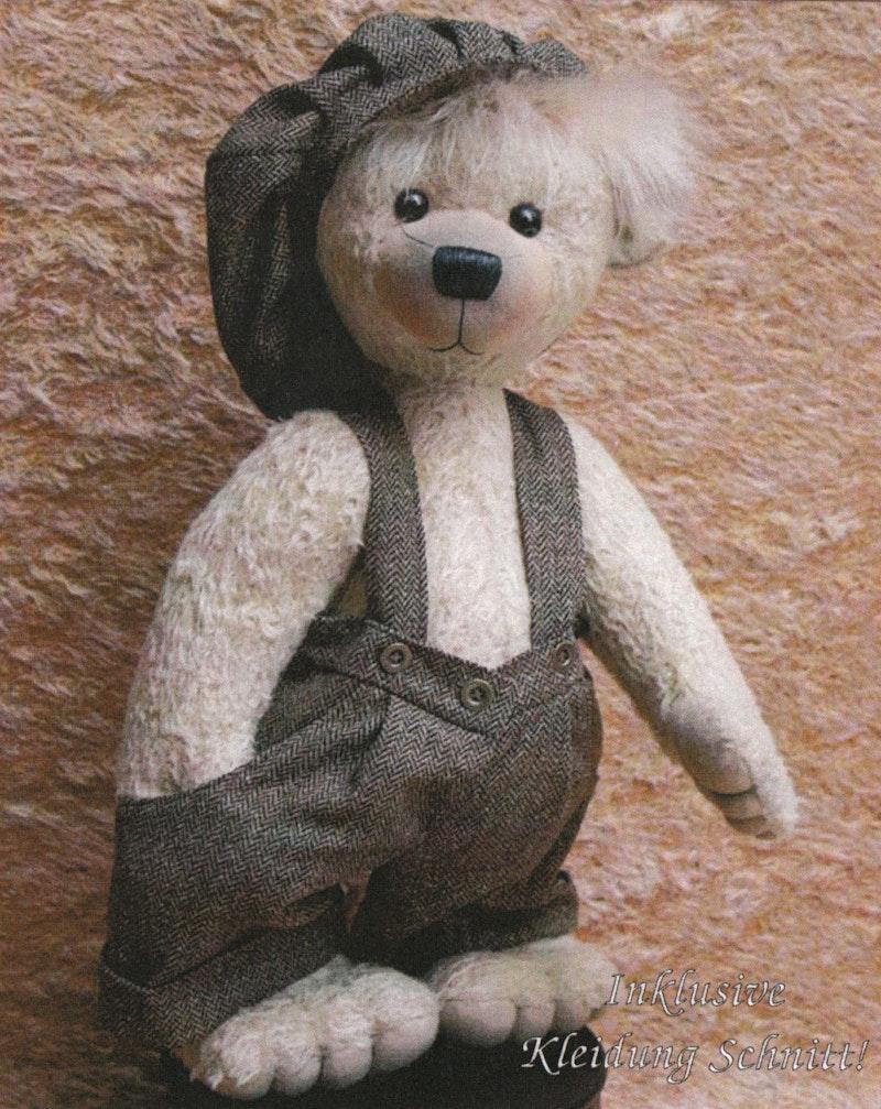 Bastelpackung Teddybär Bill, Komplettset inkl. Schnittmuster