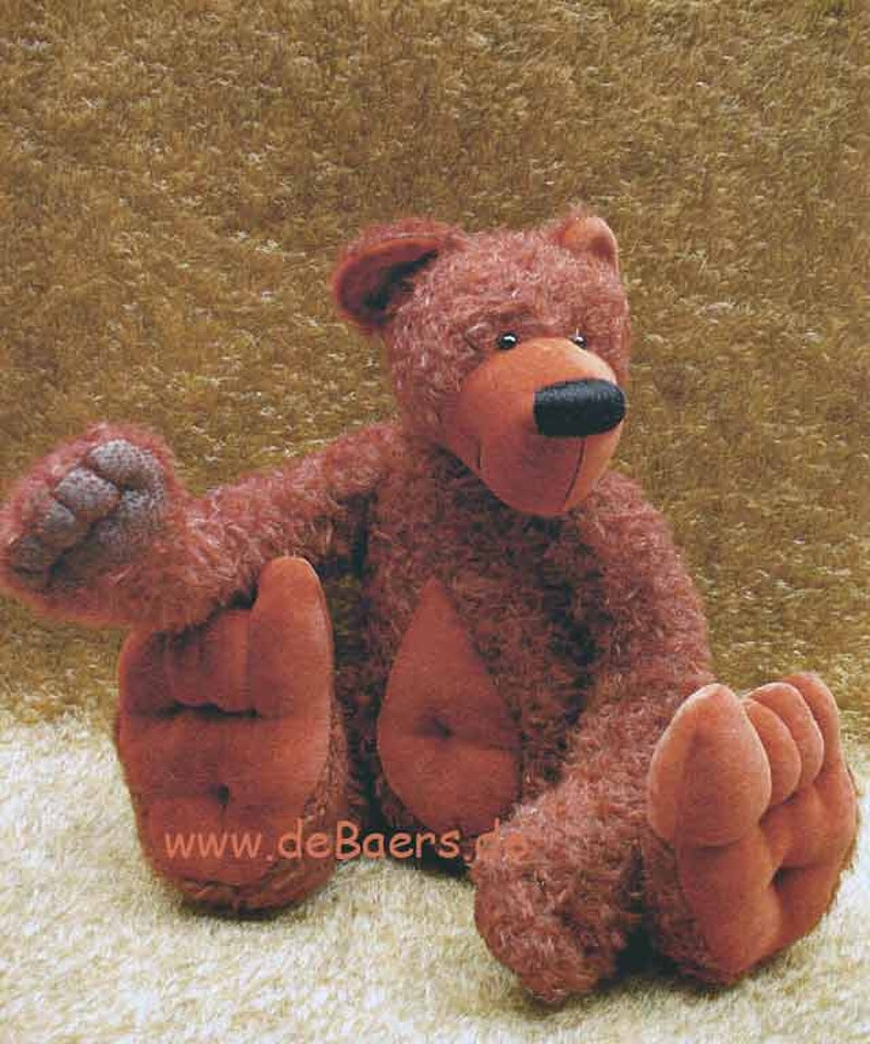 Bastelpackung Teddybär Rosti (Mohair)/Schnittmuster