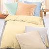 Bügelfreie Baumwoll-Seersucker HOTEL-Bettwäsche uni stückgefärbt