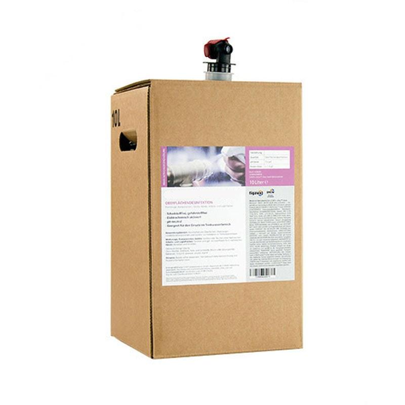 Handfreundliches und Flächendesinfektionsmittel, 10 Liter Beutel in einer Box