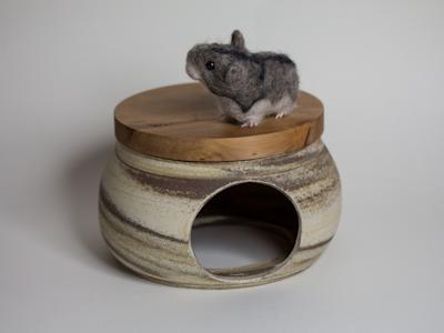 Hamsterversteck Natur Pur marmoriert groß