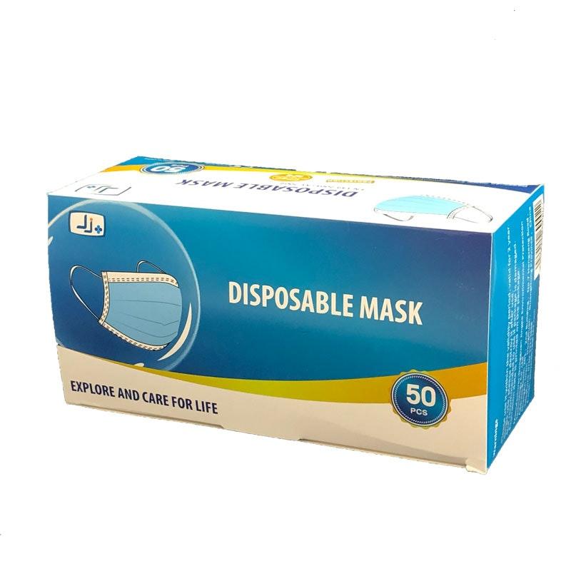 Einweg-Maske 3-lagig weiß-blau
