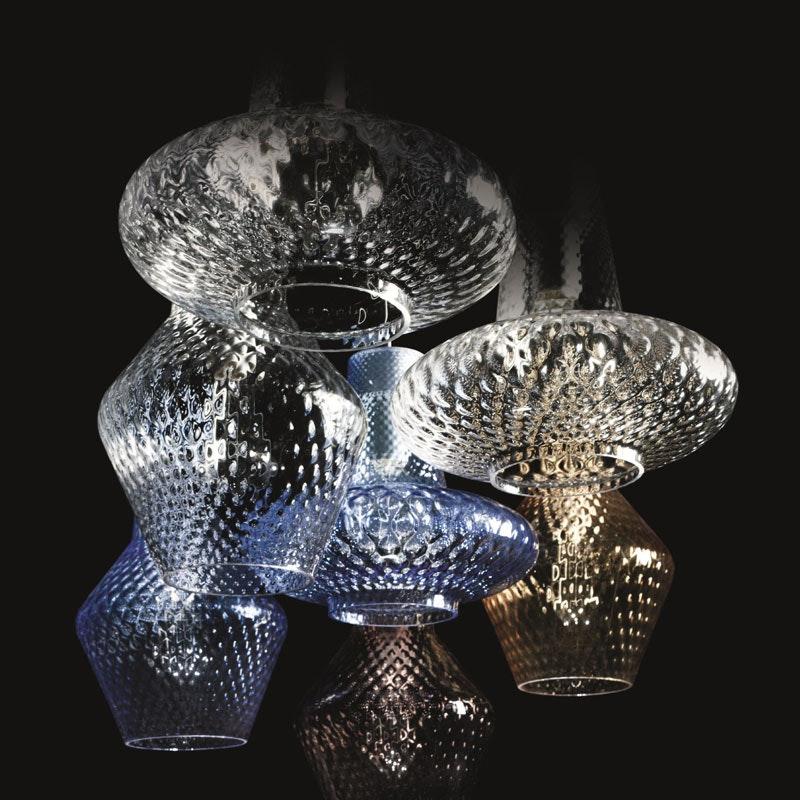Deckenlampe ROMEO E GIULIETTA mundgeblasenes Muranoglas