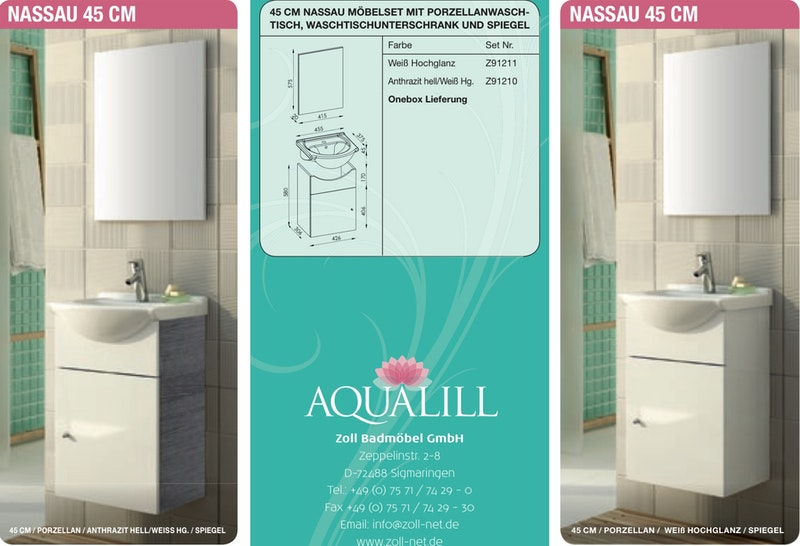 zoll aqualill nassau 45 cm. Black Bedroom Furniture Sets. Home Design Ideas
