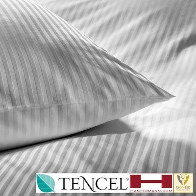 LyOnSilk© Bio-Bettwäsche für Hotels - TENCEL/Baumwolle im 8 mm Streifensatin