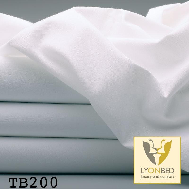 Feinbettlaken, Hotel TB200 - Mischgewebe weiß/farbig