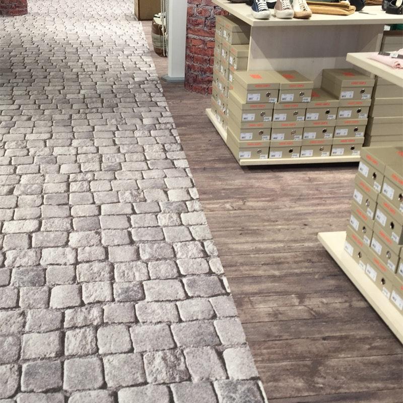Hotelteppichboden NATUR im Stil von Dekorboden