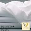 Percale Plus Bettlaken aus leichtem, feinfädigen Mischgewebe weiß