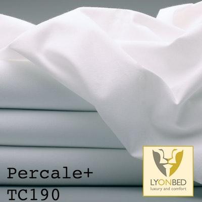 Bettlaken Percale Plus - leichtes, feinfädiges Mischgewebe weiß